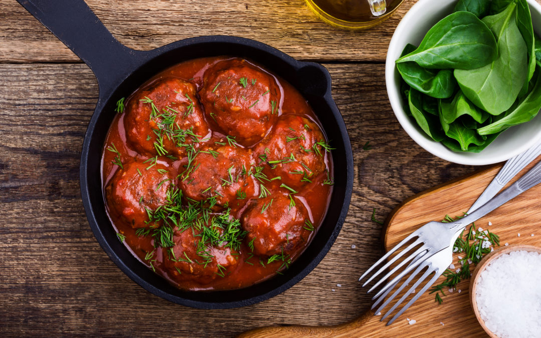 AMAZING Southern Meatballs with RED CHILE SAUCE!
