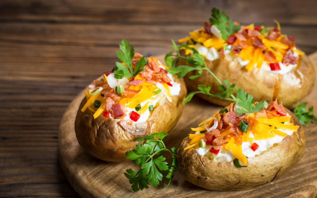 Homestyle Loaded Baked Potatoes in 3 Steps