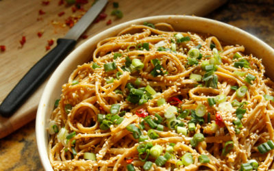 Spicy Peanut Rice Noodles