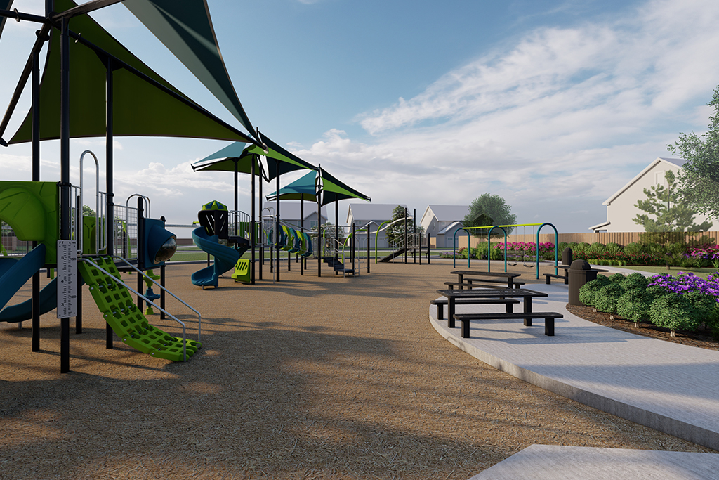 New park in construction at Lakes at Creekside